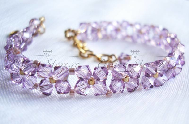 Bratara fina, Swarovski elements,